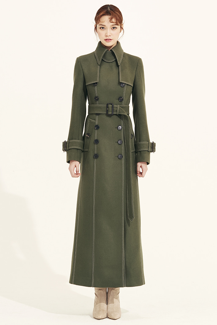 WOOL MAXI TRENCH COAT