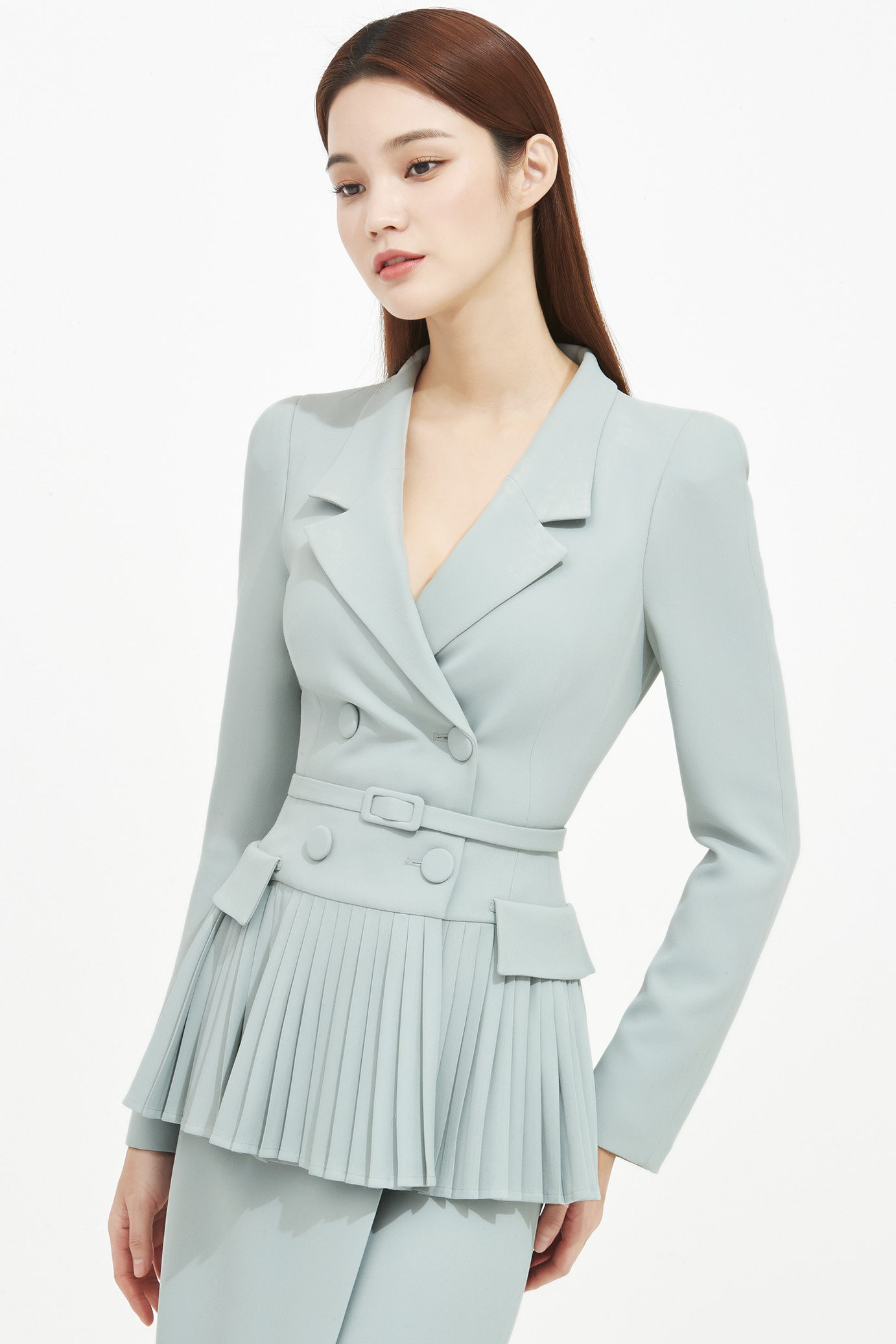 CREPE PLEATS JACKET